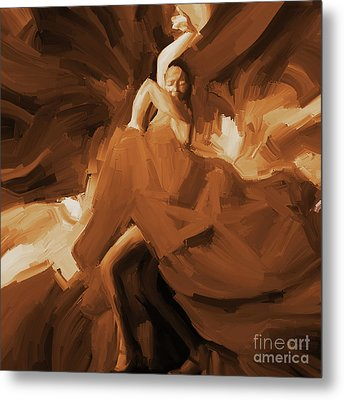Metal Print featuring the painting Flamenco Flamenco  by Gull G