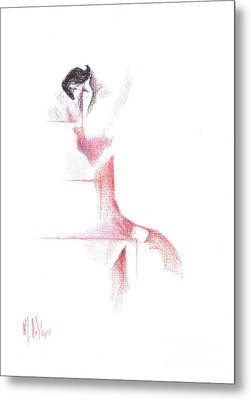 Metal Print featuring the painting Flamenco Geometric Cc101 by Kip DeVore