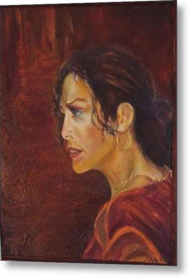 Flamenco Girl 1 Metal Print