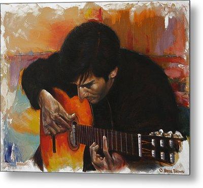 Flamenco Guitar Player Metal Print