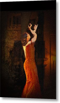Flamenco In The Streets Metal Print by tim Kahane