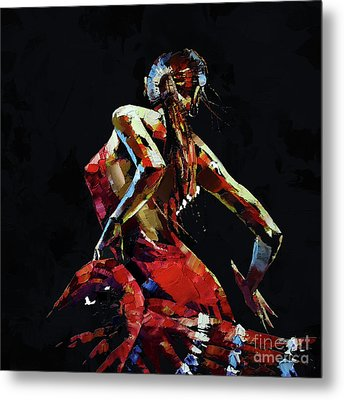 Flamenco Knife Art  Metal Print by Gull G