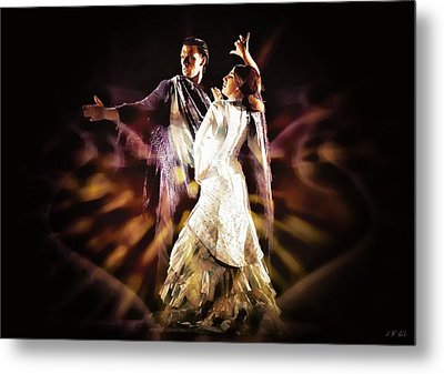Flamenco Performance Metal Print