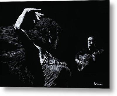 Flamenco Recital Metal Print by Richard Young