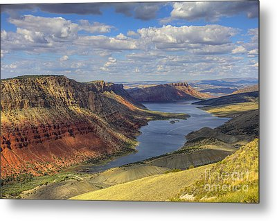 Metal Print featuring the photograph Flaming Gorge by Spencer Baugh