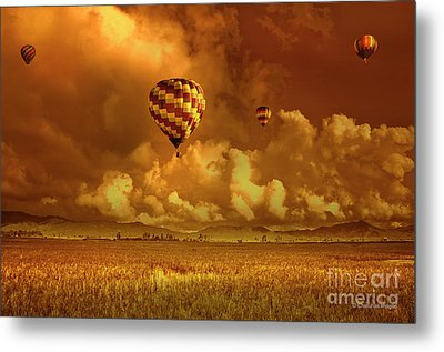 Metal Print featuring the photograph Flaming Sky by Charuhas Images