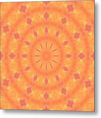 Metal Print featuring the digital art Flaming Sun by Elizabeth Lock