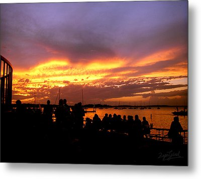Metal Print featuring the photograph Flaming Sunset by Zafer Gurel