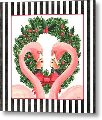 Flamingo Amore 1 Metal Print
