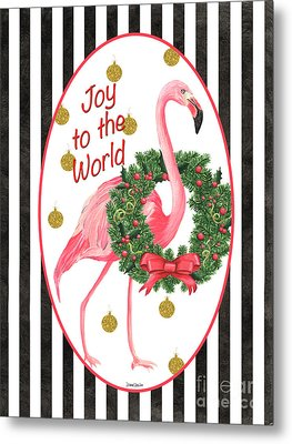 Flamingo Amore 2 Metal Print by Debbie DeWitt