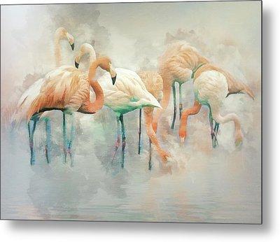 Flamingo Fantasy Metal Print