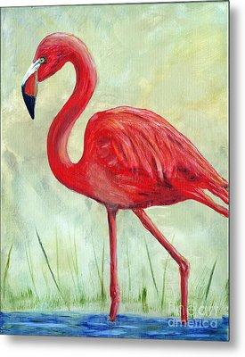 Flamingo Metal Print by Timothy Hacker