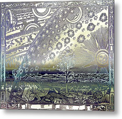 Metal Print featuring the photograph Flammarion Engraving Colored by Robert G Kernodle