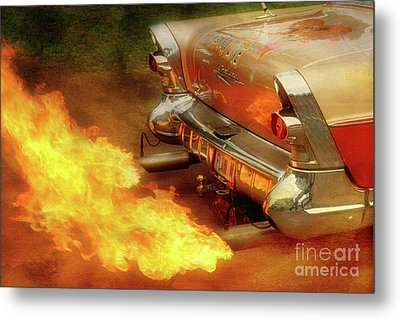 Flam'n Metal Print by Joel Witmeyer