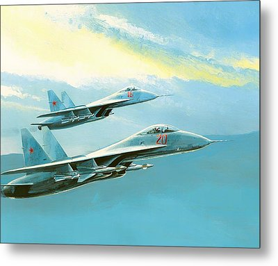 Flankers In Formation Metal Print by Mountain Dreams