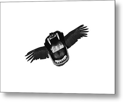 Flappy Mouth Metal Print by Nicholas Ely