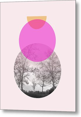 Flare In Pink And Yellow- Art By Linda Woods Metal Print