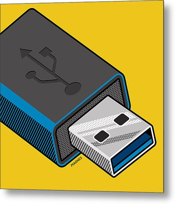 Metal Print featuring the digital art Flash Drive by Ron Magnes