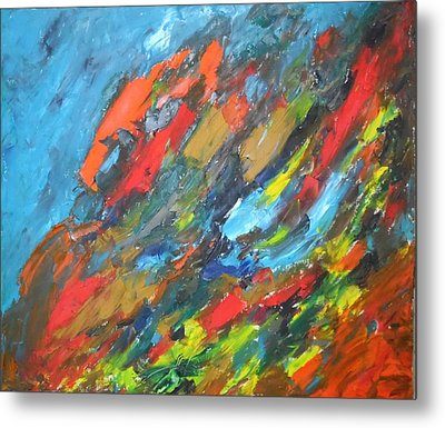 Flash Fire Metal Print by Esther Newman-Cohen