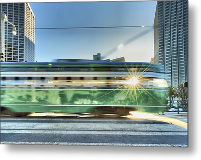 Metal Print featuring the photograph Flash Muni by Steve Siri