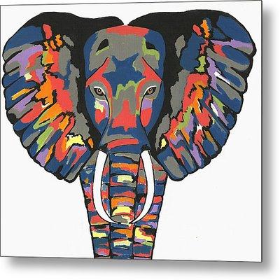 Flashy Elephant Metal Print by Kathleen Sartoris