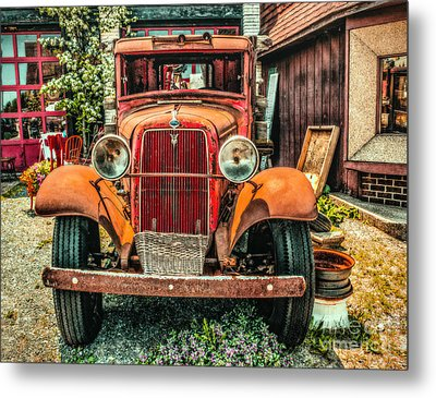 Metal Print featuring the photograph Flat Bed Ford by Nick Zelinsky