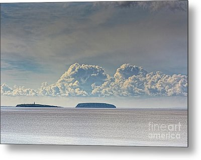 Flat Holm And Steep Holm Metal Print by Steve Purnell