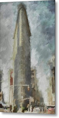 Metal Print featuring the digital art Flat Iron by Jim  Hatch