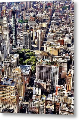 Flatiron Building From Above - New York City Metal Print
