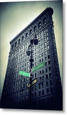 Metal Print featuring the photograph Flatiron Directions by Jessica Jenney