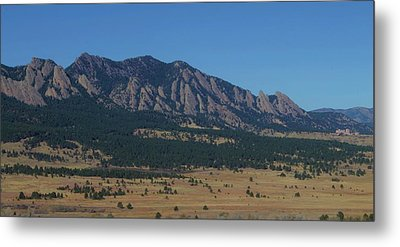 Metal Print featuring the photograph Flatirons Of Boulder by Christopher Kirby