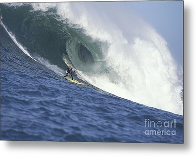 Flea On A Mavericks Giant Metal Print by Stan and Anne Foster