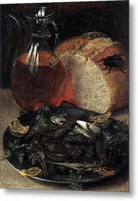 Flegel Georg Still Life With Fish Metal Print by Georg Flegel