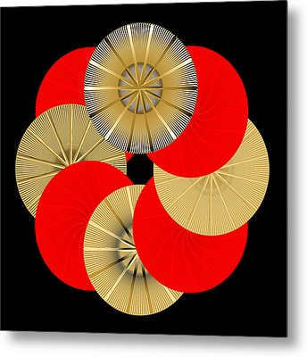 Metal Print featuring the digital art Fleuron Composition No. 15 by Alan Bennington