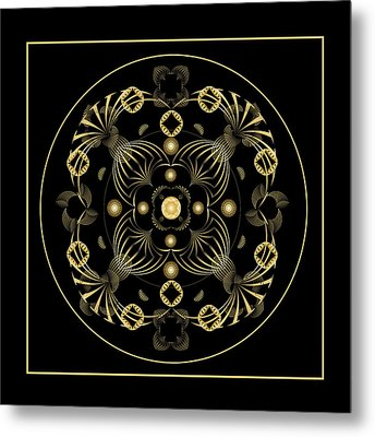 Metal Print featuring the digital art Fleuron Composition No. 20 by Alan Bennington
