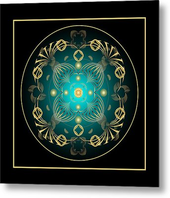 Metal Print featuring the digital art Fleuron Composition No. 21 by Alan Bennington