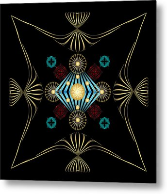 Metal Print featuring the digital art Fleuron Composition No. 3 by Alan Bennington