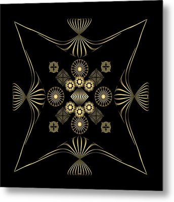 Metal Print featuring the digital art Fleuron Composition No. 4 by Alan Bennington