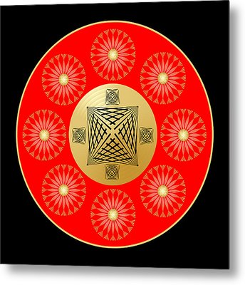 Metal Print featuring the digital art Fleuron Composition No. 41 by Alan Bennington