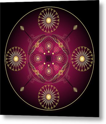 Metal Print featuring the digital art Fleuron Composition No. 56 by Alan Bennington