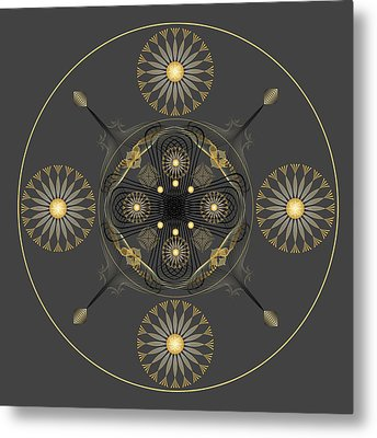 Metal Print featuring the digital art Fleuron Composition No. 57 by Alan Bennington