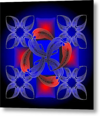 Metal Print featuring the digital art Fleuron Composition No. 71 by Alan Bennington