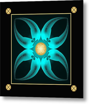 Metal Print featuring the digital art Fleuron Composition No. 75 by Alan Bennington