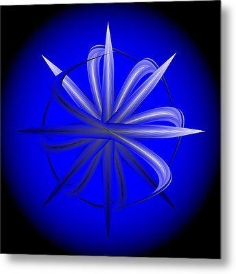Metal Print featuring the digital art Fleuron Composition No. 77 by Alan Bennington