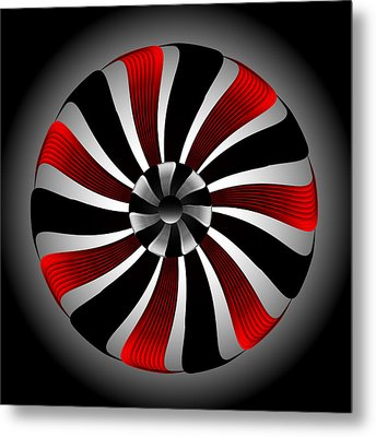 Metal Print featuring the digital art Fleuron Composition No. 80 by Alan Bennington