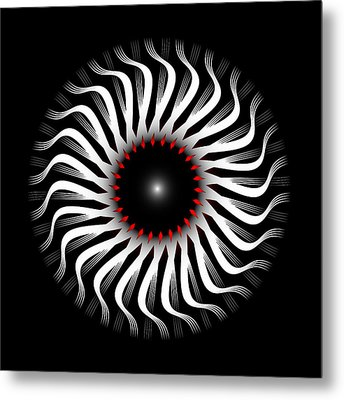 Metal Print featuring the digital art Fleuron Composition No. 82 by Alan Bennington