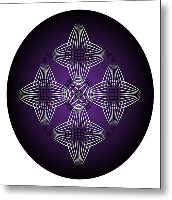 Metal Print featuring the digital art Fleuron Composition No. 86 by Alan Bennington