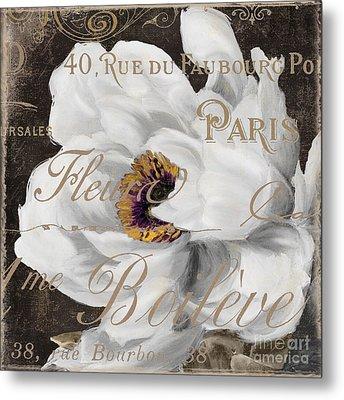 Fleurs Blanc Metal Print by Mindy Sommers