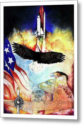 Flight Metal Print by Anthony Burks Sr