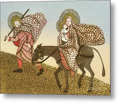Flight Into Egypt II  Metal Print by Gillian Lawson